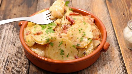 Truffade is a tasty mix of potatoes, bacon and cheese. Pic: Margouillatphotos/iStock/Getty