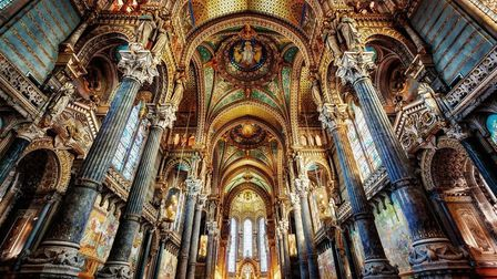 Lyon's beautiful Notre-Dame de Fourviere Basilica is one of the many buildings free to visit this we