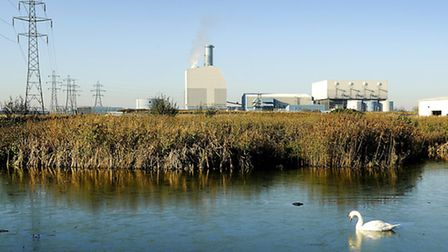 The proposed incinerator site at Saddlebow. Picture: Ian Burt.