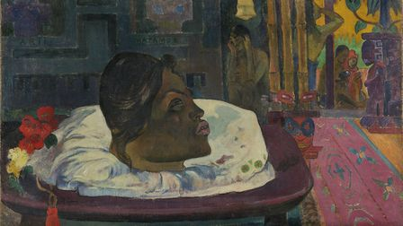Arii Matamoe (The Royal End) by Paul Gauguin; Tahiti; 1892. Image courtesy of the Getty's Open Conte
