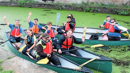 The canoe trail meets in Burnley