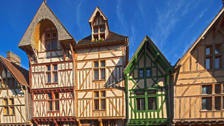 The distinctive timbered houses of Rue Kleber in Troyes. Pic: D Le Neve/Troyes Champagne Tourisme