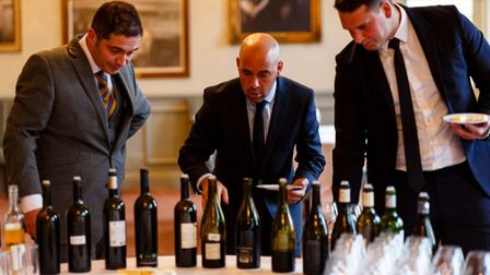 The sommeliers were tested on their cheese and wine pairing skills