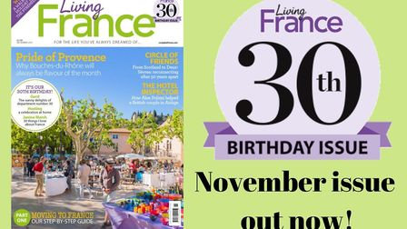 It's our Birthday! Living France November issue out now!