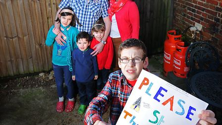 Tracy-Ann and Joe Moore and their children Harrison, 11, Milanna, 9, Isabelle, 6 and Wilson, 4, are