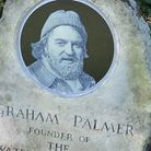 Graham Palmer memorial stone with new plaque (photo: Waterways Images)