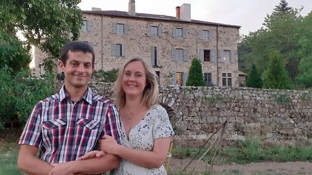 Amy Dean and her French husband Marc De Dinechin
