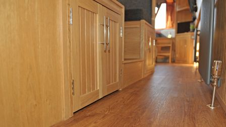 The fitout uses oak with narrow tongue and groove (photo: Andy R Annable)