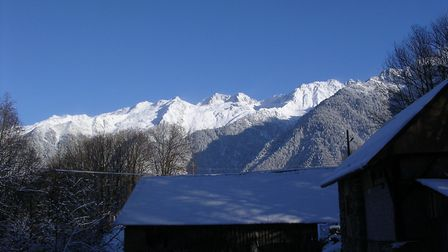 Lauzière mountain covered in snow in winter