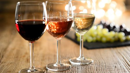 Glasses of red, rose and white wine (c) Jean-Philippe Wallet/Getty Images