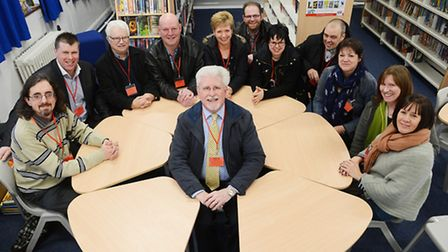 Litcham High School re-union. Pictured at the front is former head teacher Peter Hart. Picture: Ian