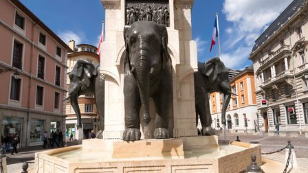 Fontaine des Elephants in Chambery