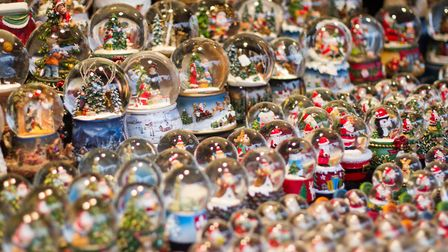 Gorgeous snowglobes on sale at Lille Christmas market. Pic: Robert Andrews/iStock/Getty
