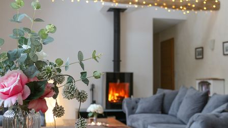 Relax in front of the wood-burning stove in winter