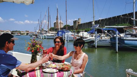 Enjoy some amazing food and drink on a boating holiday in the Camargue. Pic: Antoine Tournay