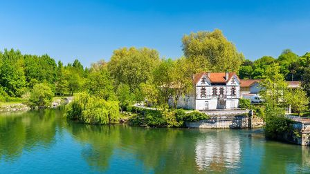 One of the many scenic spots along the River Charente, here as it passes through Cognac (c) Leonid A