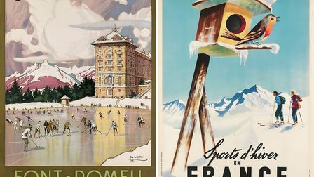 Posters by Tony George Roux, Font - Romeu/Sports d'Hiver, 1923, estimate $1,000to $1,500 and Jean L