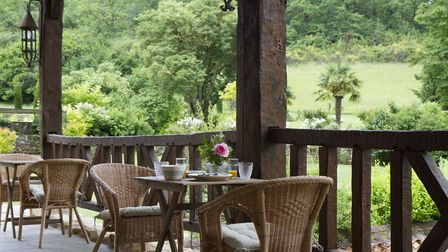 Guests enjoy breakfast on the terrace (c) Maddie Thornhill