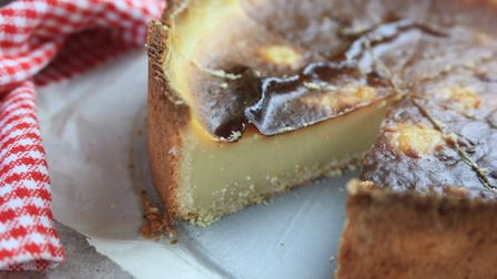 The Flan, a thick custard tart baked with real vanilla