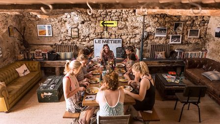 Guests at Zero Neuf enjoy home-cooked food in the café bar (c) Tomas Montes