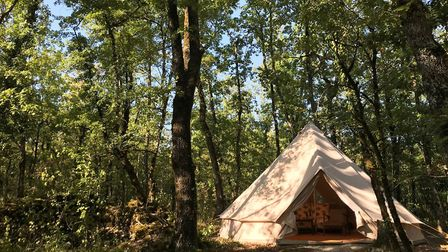 Keen campers Becky and Andrew have added bell tents at Wild Oak Wood