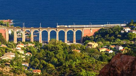 A train cross the Antheor viaduct in Var (c) Andrzej63 Getty Images