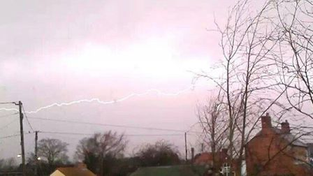 Saturday's storm was captured at Wiggenhall St Mary Magdalen near King's Lynn by 15-year-old Downham