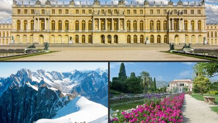 Visit a royal residence, scale a mountain or wander around a garden without leaving your home. Pics: