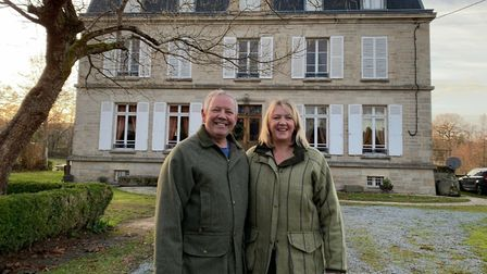 Debbie and Nigel moved in to their 19th-century chateau last year