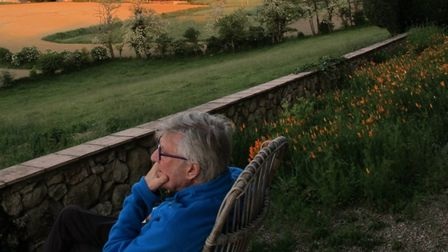 Robin enjoys the view from his home in Tarn ©Meredith Wheeler