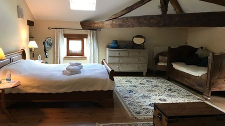 One of the comfortable bed and breakfast rooms