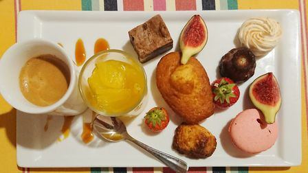 A cafe gourmand fit for a king at the Grand Hotel in Molitg