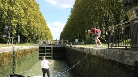Dealing with one of the locks. Pic: Lara Dunn