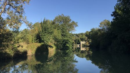 Beautiful reflections on the River Baise. Pic: Lara Dunn