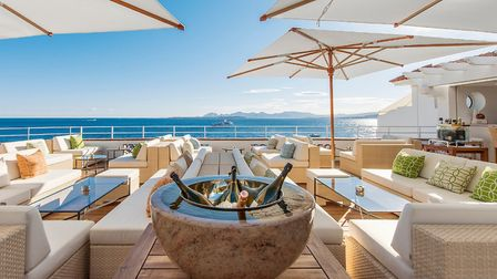 Enjoy the view from the champagne lounge