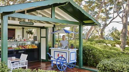 Onsite facilities include a juice and ice cream bar