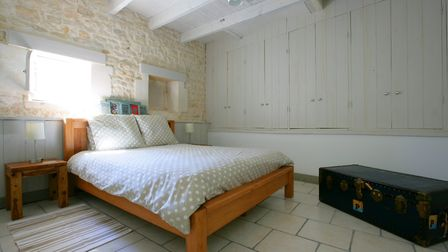 One of the stylish bedrooms