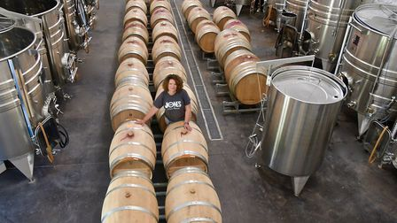 Katie in the winery (c) Ed Bussell