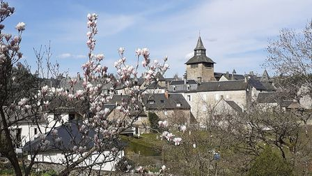 The view of Correze village from the garden