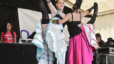 Two cancan-style dancers. Pic: SoopySue/Getty