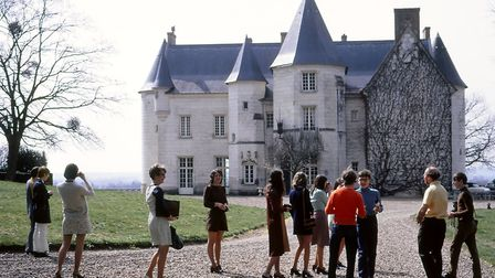 Pupils dressed up for a tasting at the Chateau de Moncontour, Vouvray, in 1971