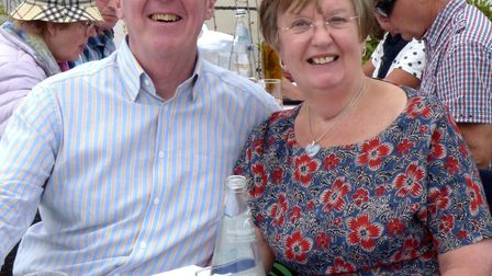 Mick and Marian celebrating their 50th wedding anniversary in Nice