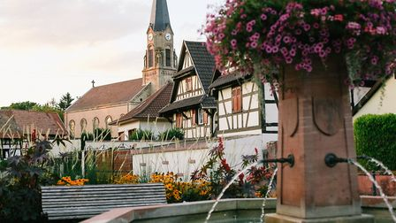 Small village square Helena lives near in Strasbourg (c) Helena Woods Photography