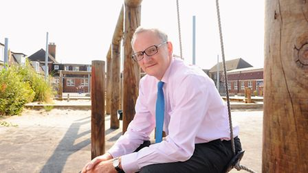 Businessman Theodore Agnew at Great Yarmouth Primary Academy.Picture: James Bass
