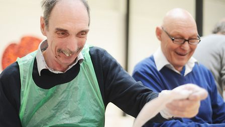 Andrew Foulkes at The Stroke Association art class at the King's Lynn Arts Centre. Picture: Ian Burt