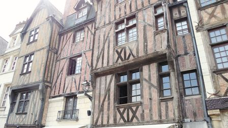 Half-timbering in Tours. Pic: Alison Hughes