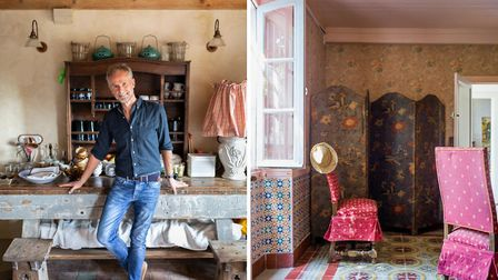 Interior designer Benji Lewis works from bases in the UK and France