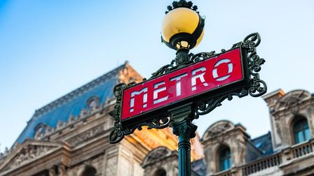 The famous Paris Metro signs. Pic: Fabrice Cabraud/Getty