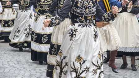 The collective practice of traditional Breton dances © guy ozenne Getty Images