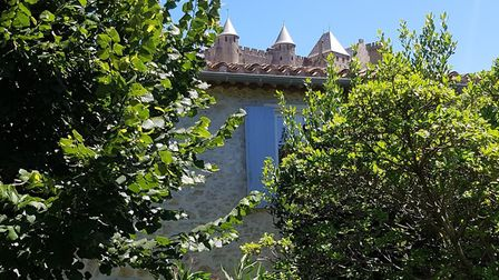 The Cite de Carcassonne can be seen from the house © Matthew Castle